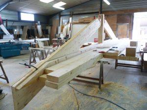 Fabrication ferme bois