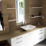 Meuble salle de bains stratifié